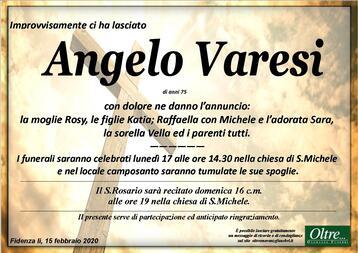 Necrologio di Angelo Varesi