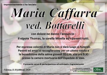 Necrologio di Maria Caffarra ved. Bottarelli