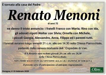 Necrologio di Renato Menoni