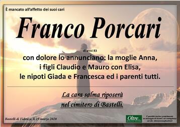 Necrologio di Franco Porcari
