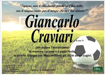 Necrologio di Giancarlo Craviari