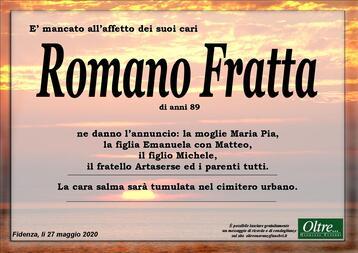 Necrologio di Romano Fratta
