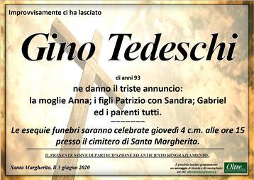 Necrologio di Gino Tedeschi