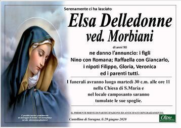 Necrologio di Elsa Delledonne ved. Morbiani