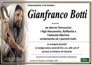 Necrologio di Gianfranco Botti