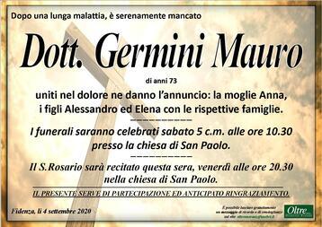 Necrologio di Dott. Germini Mauro