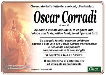 Necrologio di Oscar Corradi