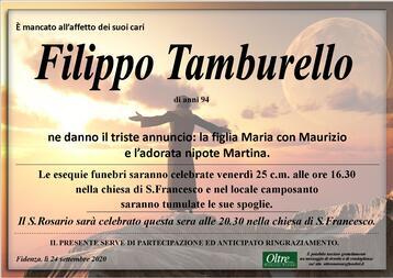 Necrologio di Filippo Tamburello