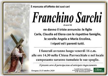 Necrologio di Franchino Sarchi