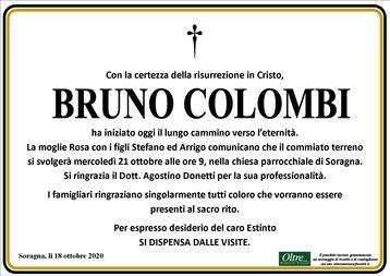 Necrologio di Bruno Colombi