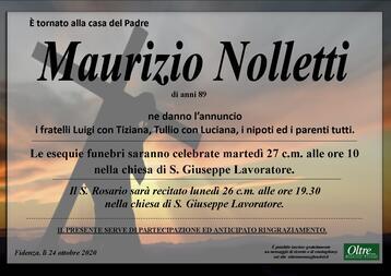 Necrologio di Maurizio Nolletti
