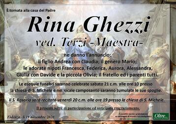 Necrologio di Rina Ghezzi ved. Terzi