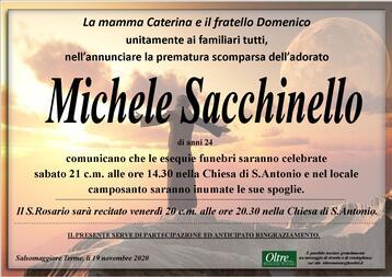 Necrologio di Michele Sacchinello