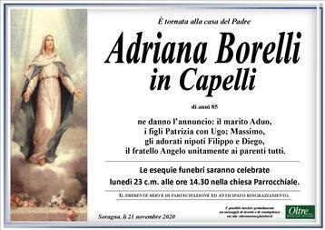 Necrologio di Adriana Borelli