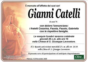 Necrologio di Gianni Catelli