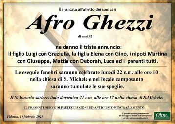 Necrologio di Afro Ghezzi