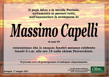 Necrologio di Massimo Capelli