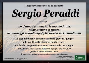 Necrologio di Sergio Peraddi
