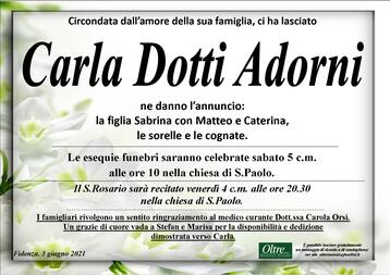 Necrologio di Carla Dotti Adorni
