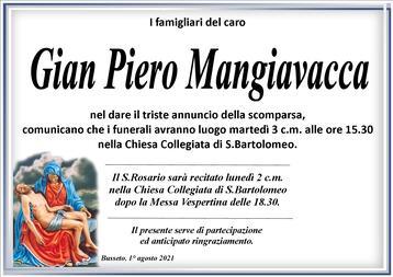 Necrologio di Gian Piero Mangiavacca