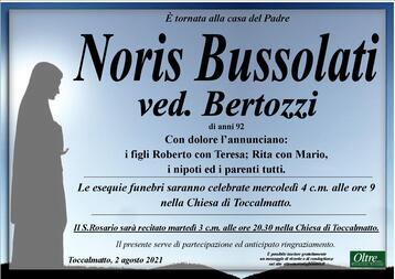 Necrologio di Noris Bussolati ved. Bertozzi