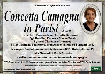 Necrologio di Concetta Camagna