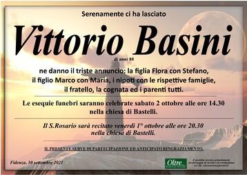 Necrologio di Vittorio Basini