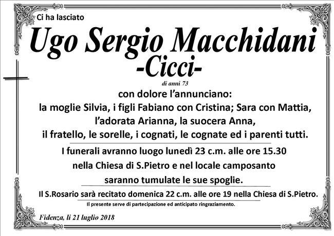 Necrologio di Ugo Sergio Macchidani