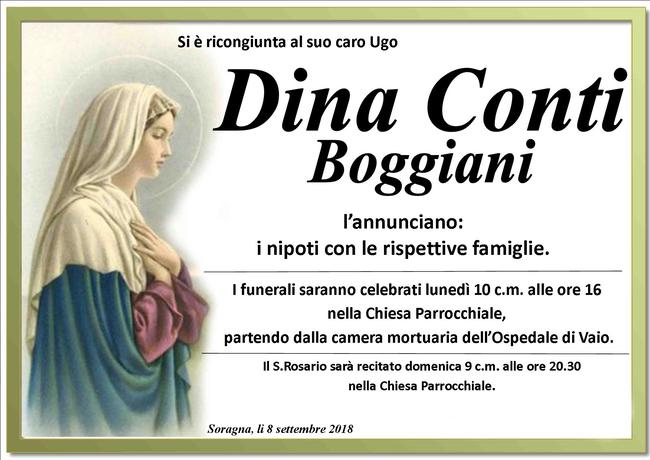 Necrologio di Dina Conti Boggiani