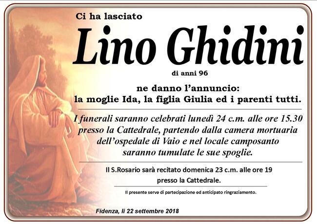 Necrologio di Lino Ghidini