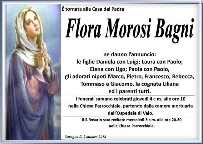 Necrologio di Flora Morosi Bagni