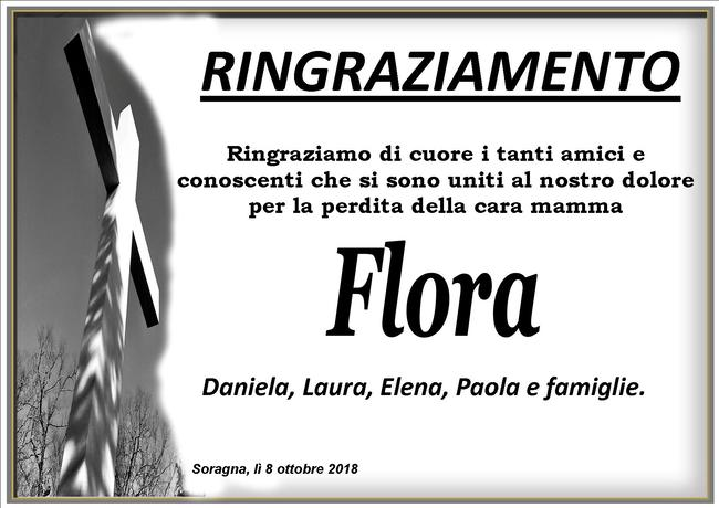Ringraziamenti per Flora Morosi Bagni