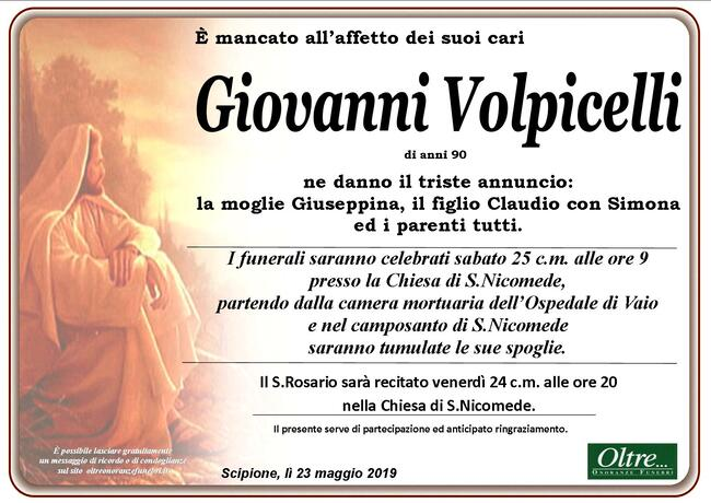 Necrologio di Giovanni Volpicelli