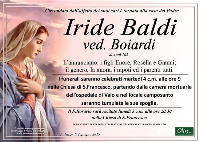 Necrologio di Iride Baldi