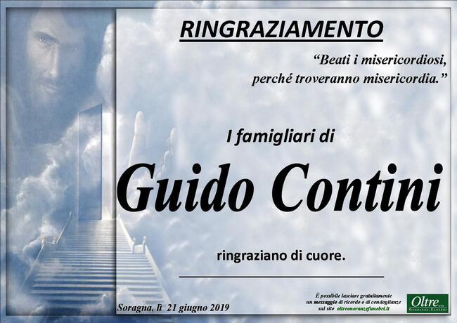 Ringraziamenti per Guido Contini