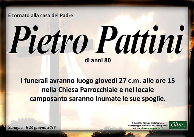 Necrologio di Pietro Pattini