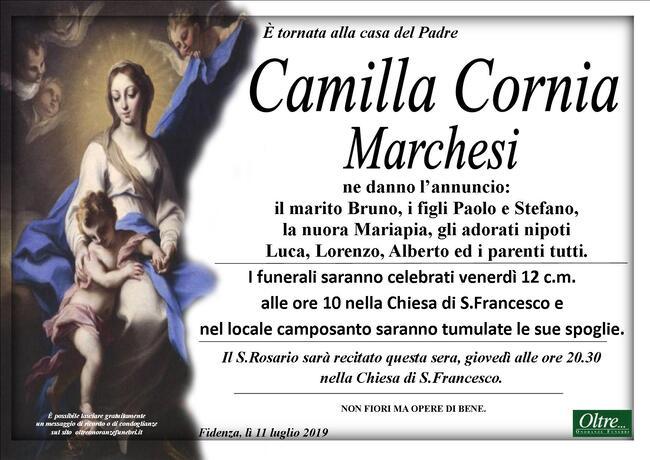 Necrologio di Camilla Cornia Marchesi