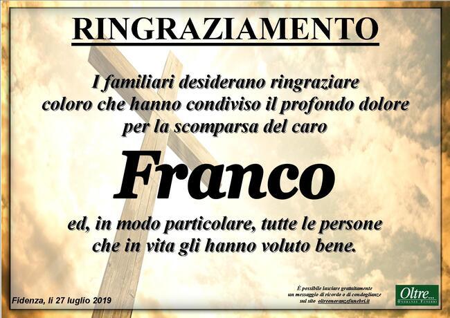 Ringraziamenti per Franco Zardi