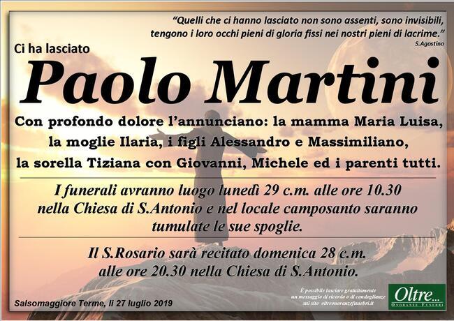 Necrologio di Paolo Martini