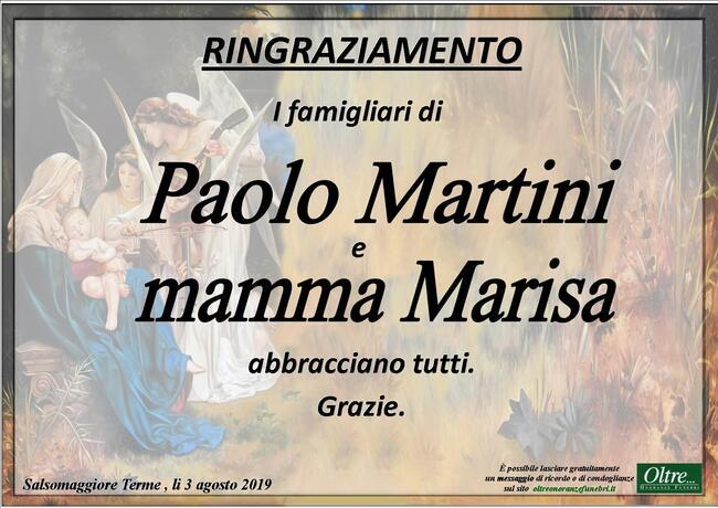 Ringraziamenti per Maria Luisa Bertolotti