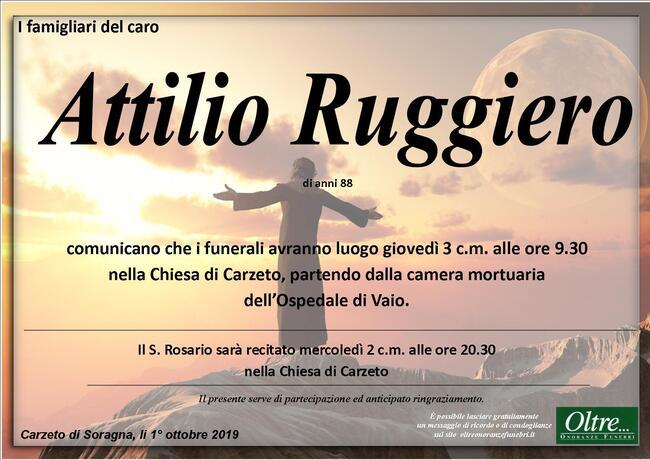 Necrologio di Attilio Ruggiero