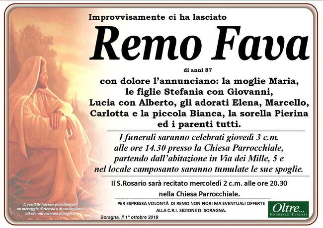 Necrologio di Remo Fava