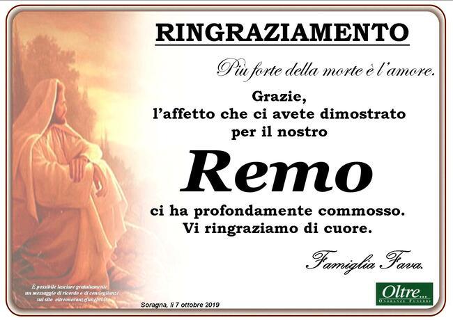 Ringraziamenti per Remo Fava