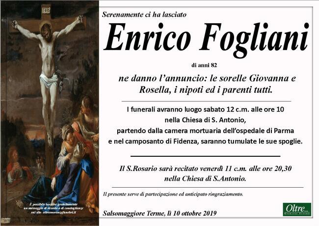 Necrologio di Enrico Fogliani
