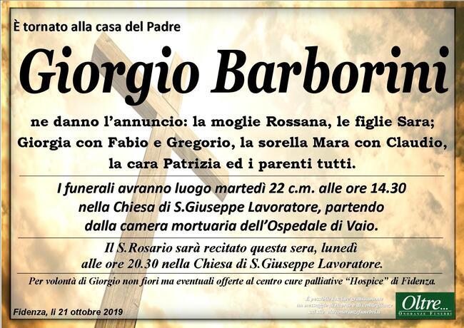 Necrologio di Giorgio Barborini
