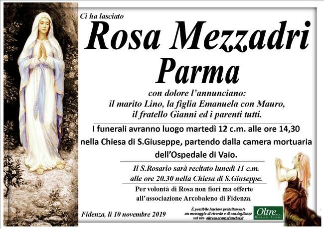 Necrologio di Rosa Mezzadri Parma