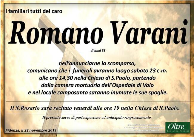 Necrologio di Romano Varani
