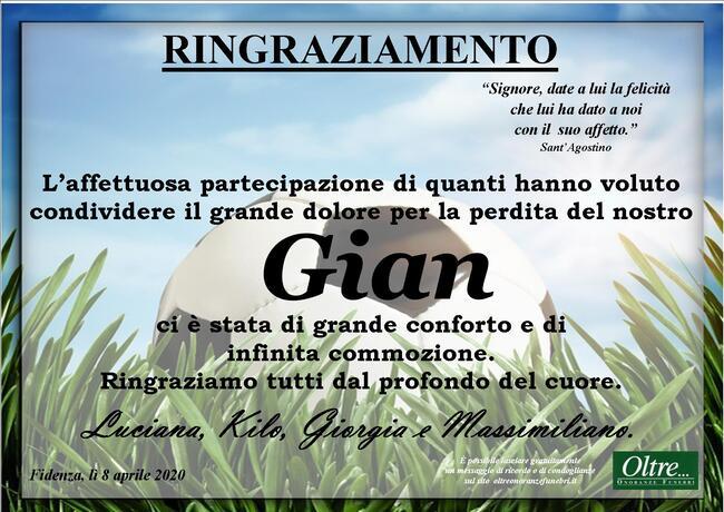 Ringraziamenti per Giancarlo Craviari