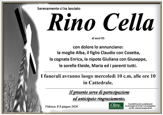 Necrologio di Rino Cella