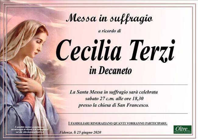 Necrologio di Cecilia Terzi